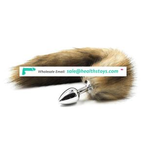 hot sale low price stainless metal plug anal toys fox tail sex toy women buttplug for boy and male