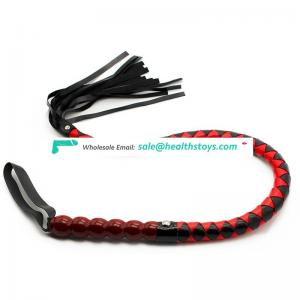 Adult Flirt Game 99cm PU Leather Bull Whip bdsm Sex Toys for Couples Fetish Roleingly Play Spanking Paddle Sex Product