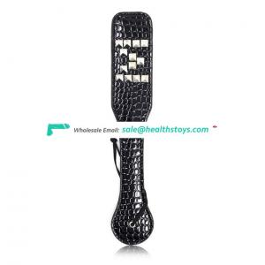 Adult SM Sex Toys Leather Spanking Paddles with Rivet for Women Adult Games