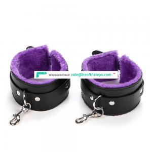 Adults Sex Handcuffs with Thick Plush Leather Handcuffs for Couple