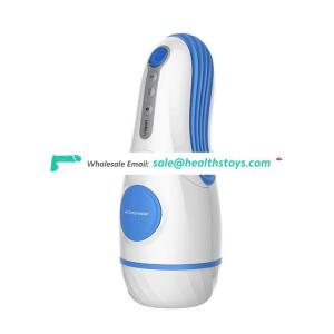 Blue Porn Sex Products Picture Electric Interactive Sucking Silicone Full-True Textured Vagina Pocket Aircraft Masturbation Cup