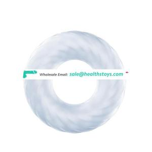 CE ROHS Quality New Ejaculation Exercise Penis Enlargement Toys Transparent Soft Silicone Pleasure Dick Cock Ring
