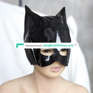 Cosplay Adult Sex Love Games Thin Patent Leather Mask Sex Toys for Male Female,Fetish Mask Bondage Hood, Mask Hood Sex Products