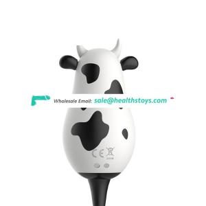 Electric Intelligent Video Mobile Remote Control Wearable Silicone Mute Animal Cow Shaped Magic Love Ball Vibrating Egg