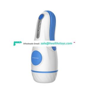 Electric Rechargeable Interactive Realistic Skin Silicone Vagina Pocket Penis Cock Sucking Vibrating Aircraft Masturbation Cup