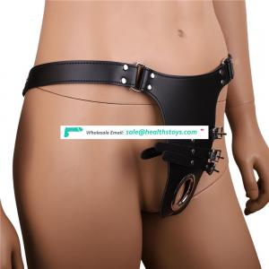 FBA Service female Chastity belt device underwear body restraint harness bondage with cock ring adult fetish sex game toy