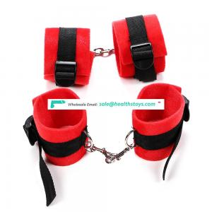 Factory Wholesale SM Bondage Play Set For Male Female Couples, Handcuffs, Eye Mask, Mouth Gag, Whip