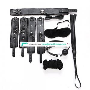 Female Leather Restraint SM Slave Bondage Kit Sex Toy