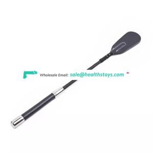 Genuine long black horse whip with top quality