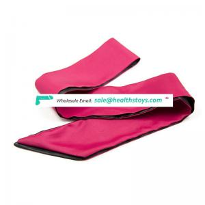 Good Quality Polyester Materials Eye Mask Silk Sleep Eye Mask with Tie Type