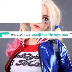 Harley Quinn 158cm Anime Cosplay Young Girl Silicone Real Doll Sex