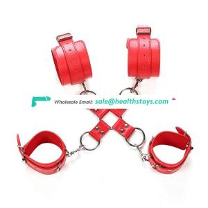 Hot Adult SM Game Sex Products Bondage BDSM  black hinged handcuffs