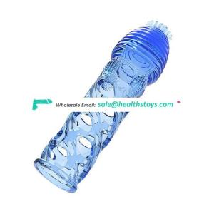 Hot Sale Leten Male Sex Toys Tool Ejaculation Penis Enlargement Spiked Hollow Silicone Dildo Sleeve Cover
