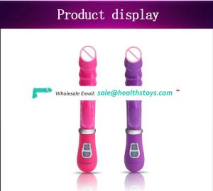 Hot selling 12 Modes Vibration Dual Vibrating Penis Waterproof Super Silent G-spot Massager for female Double Rod Masturbation