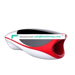 Intelligent Heating Interactive Safe Silicone Mouth Deep Throat Tongue Lips Vibrator Aircraft Masturbation Cup For Men Sex Tool