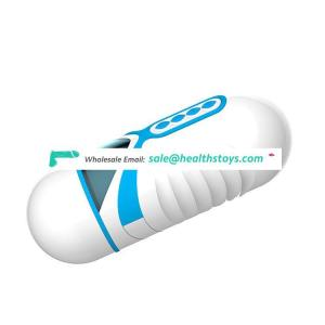 Interactive Thrusting Sucking Rechargeable Handheld Penis Massage Capsule Male Men Aircraft Masturbation Cup
