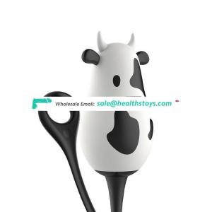 Leten  cow shape kegel ball excite her sex toys