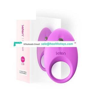 Leten Ellen Clear Image Direct Sales Silicone Material Male Long Sex Penis Ejaculation Enlargement Electric Vibrating Cock Ring