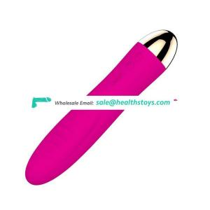 Leten Long Thin Heated Medical Silicone Rechargeable Vibrator Women