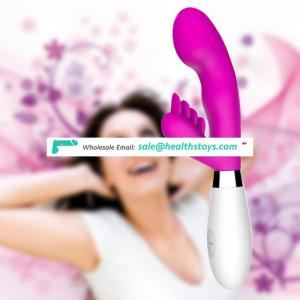 Manufacturer Silicone Beige Pink Purple 10 Functions Rabbit double dildo Vibrator Adult Sex toy women Product