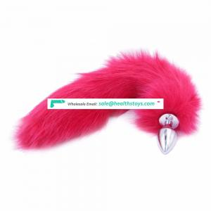 Metal Anal Toys Fox Tail Anal Plug Erotic Toys Butt Plug Sex Toys for Woman And Men Sexy Butt Plug Adult Sex Toy