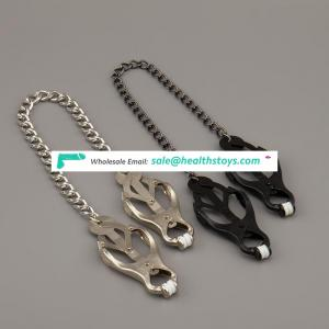Metal Nipple Clamps With Chain Toys Nipple Toys for Couple