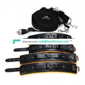 Modern style many patterns cuff leather bondage suit cuffs bed sex products
