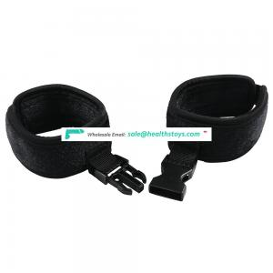 New Soft plush  Handcuff+Collar BDSM Bondage set Toy Exotic Jewelry Sex Handcuffs Sex Toys For Adult Sex Game