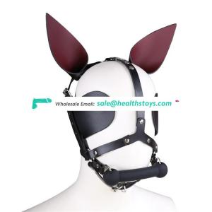 New Type Black Sharp-Eared Dog Bone Plug Covering Eyelid Leather Head Cover Face Mask Plug Head Mask