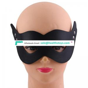 New products special design Restraint Slave Adult SM Cosplay Fetish sex Blindfold Leather Face Mask