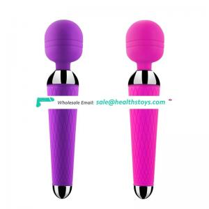 Original supplier portable waterproof wand massager sex toy, Body-safe silicone vibrator adult sex toy