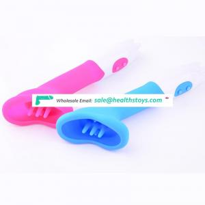 Popular Sexy Tools Artificial Soft Skin Blue Animal Shaped Dog Penis Rotation Dolphin Vibrator
