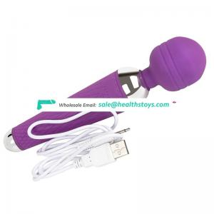 Promotional Electric 10 Speed Waterproof USB rechargeable Sex Vibrator Magic Wand Vibrator Sex Toy Women