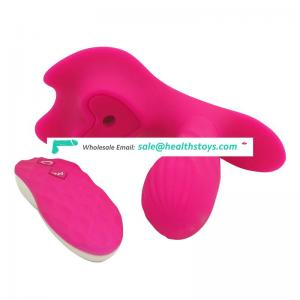 Sexual Remote Control Wearable Butterfly Vibrator Dildo Sucking Clitoris For Women