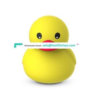 USB Rechargeable Waterproof Multi Speed Cordless Silicone Lovely Erotic Duck Shaped Massage Love Vibrating Egg