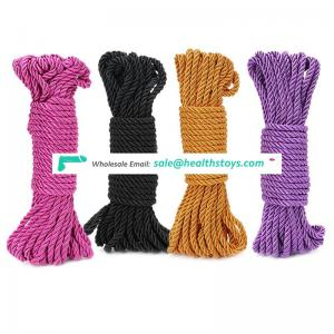 Wholesale Woven HollowColored  Polyester Cotton Rope Twisted