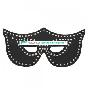 rivet PU Leather Mask High Quality Blindfold  Button Mask for Adults Bondage Games Factory Price